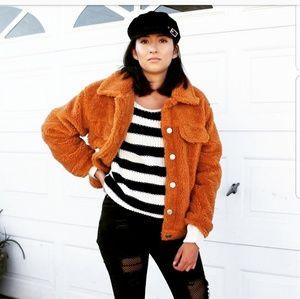 Jackets & Blazers - 🆕️//Pumpkin Patch Collection// Camel Teddy Jacket